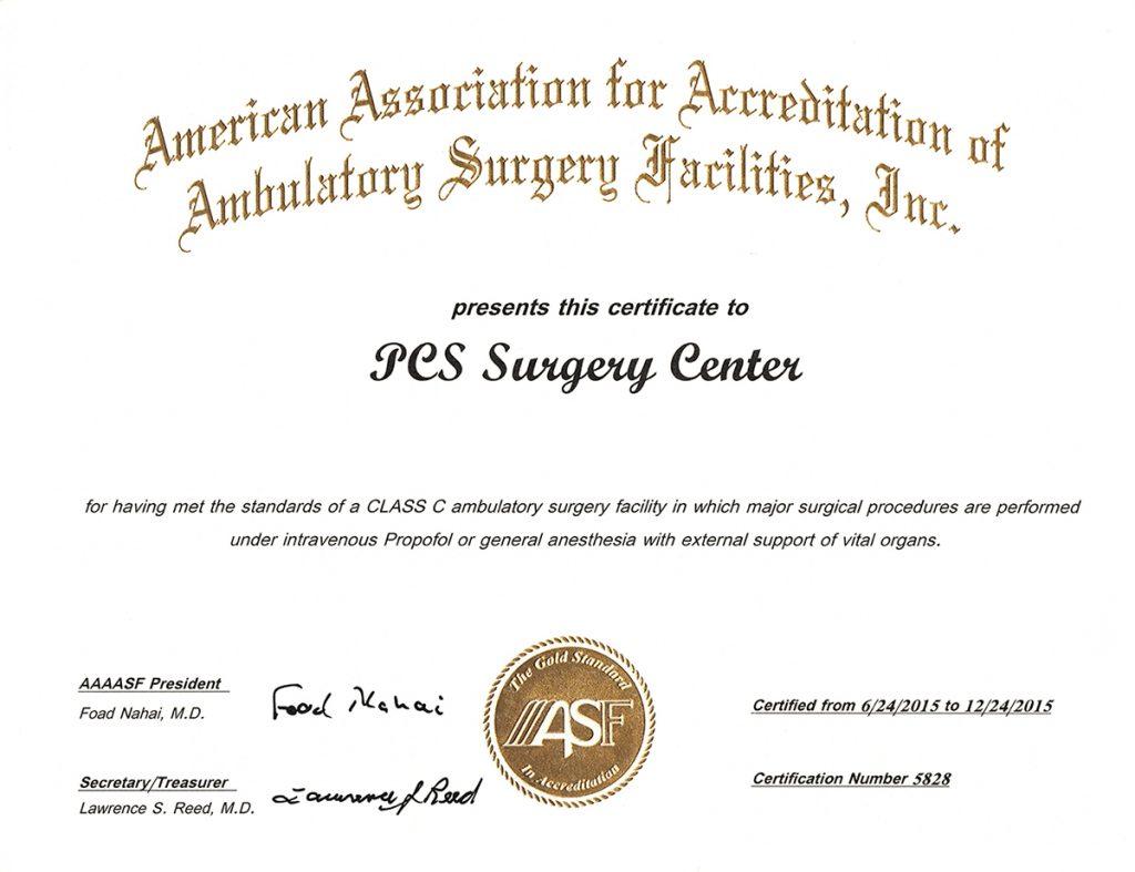 PCS Certification